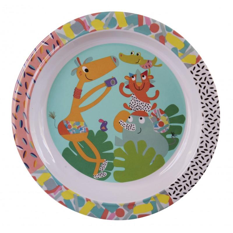 Купить Тарелка детская Ebulobo Зоопарк, Детские тарелки
