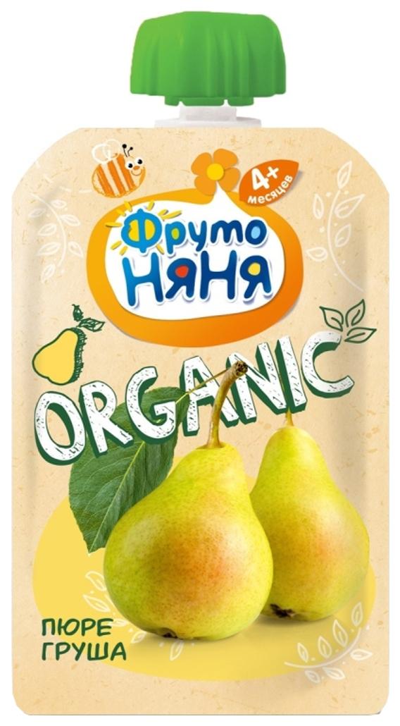 Купить Пюре фруктовое ФрутоНяня ФрутоНяня Organic Груша с 4 мес. 90 г пауч, Фруктовое пюре