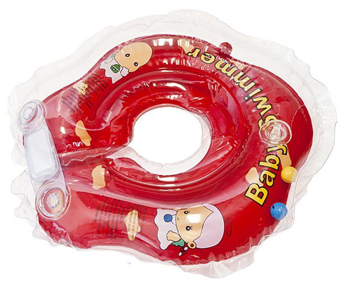 Круг для купания Baby Swimmer BS02R-B Красный