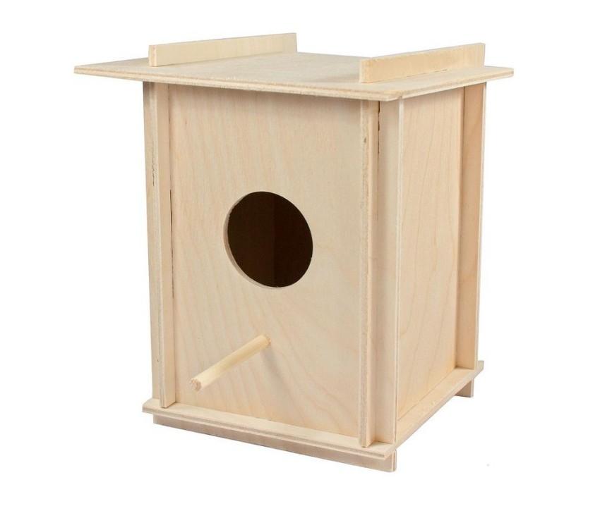 Скворечник для птиц Дарелл в клетку, бежевый