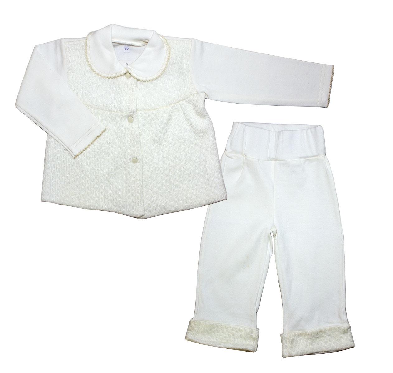Комплект одежды Осьминожка для девочки бежевый р.74