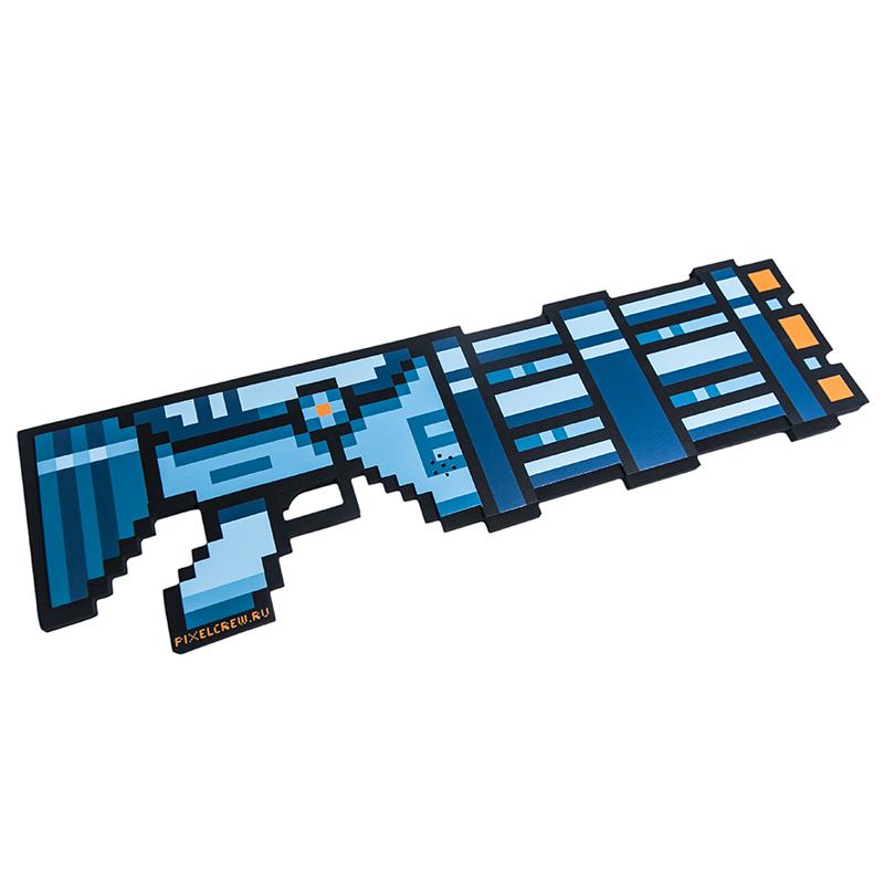 Миниган 8Бит Pixel Crew Синий пиксельный