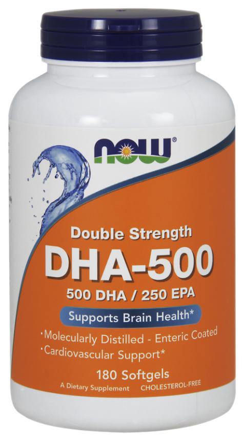 Купить DHA-500, Omega 3 NOW DHA 180 капс.