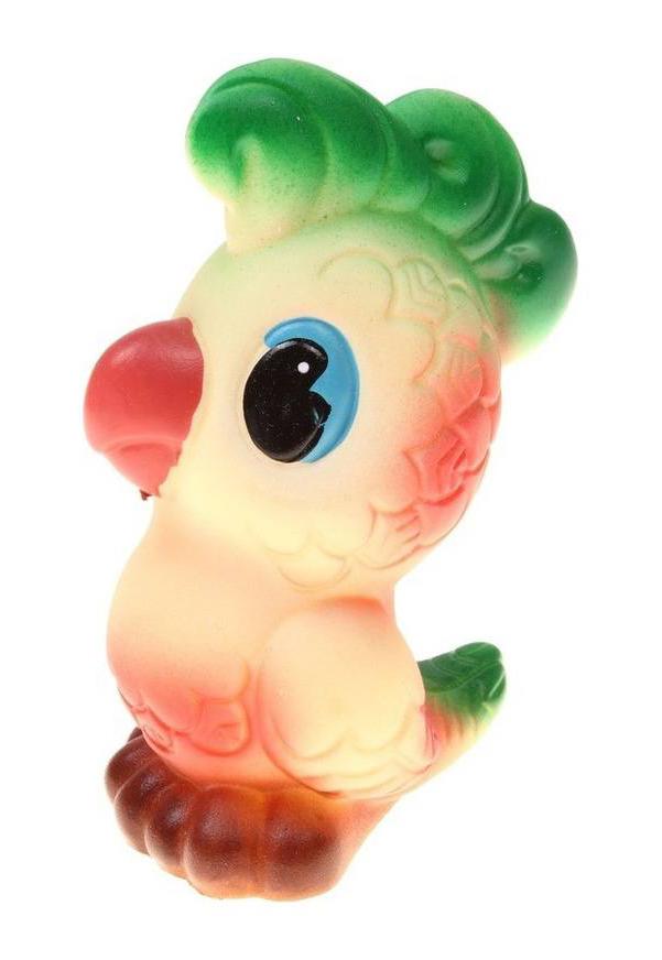 Купить ОГОНЕК Резиновая игрушка Попугай Кеша в сетке С-388о, Огонек, Игрушки для купания