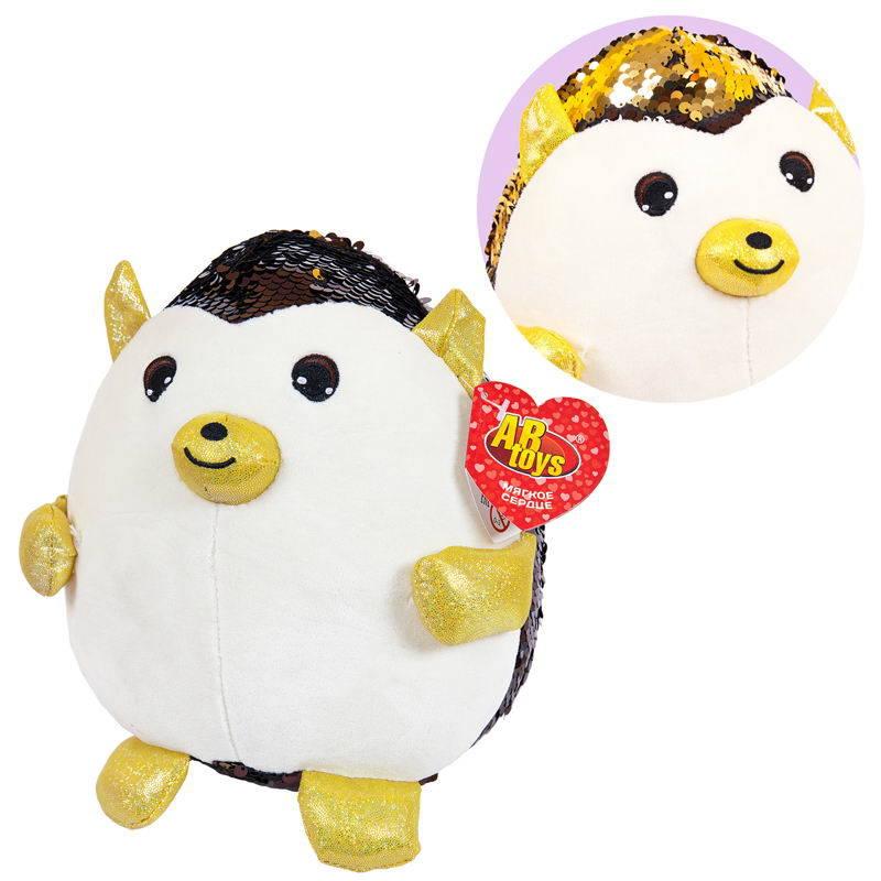 Купить ABtoys Мягкая игрушка Еж с пайетками, 20 см, Мягкие игрушки животные