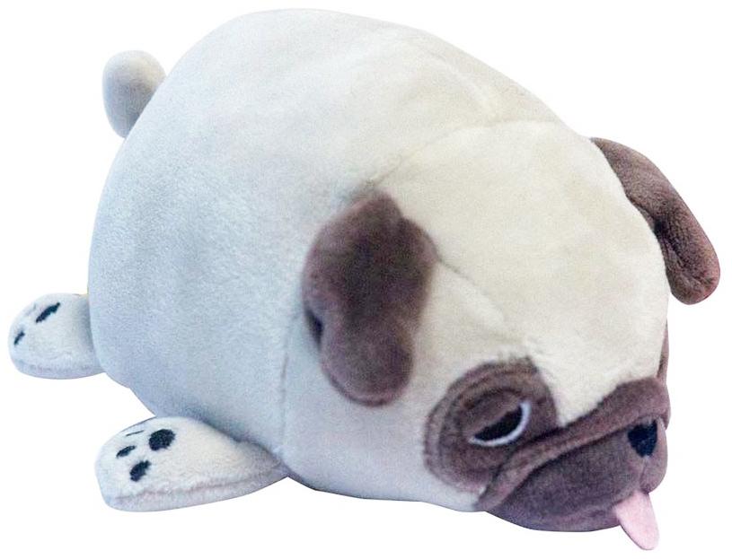 Купить Мягкая игрушка ABtoys Мопс M2005 Светло-коричневая 13 см, Yangzhou Kingstone Toys, Мягкие игрушки животные