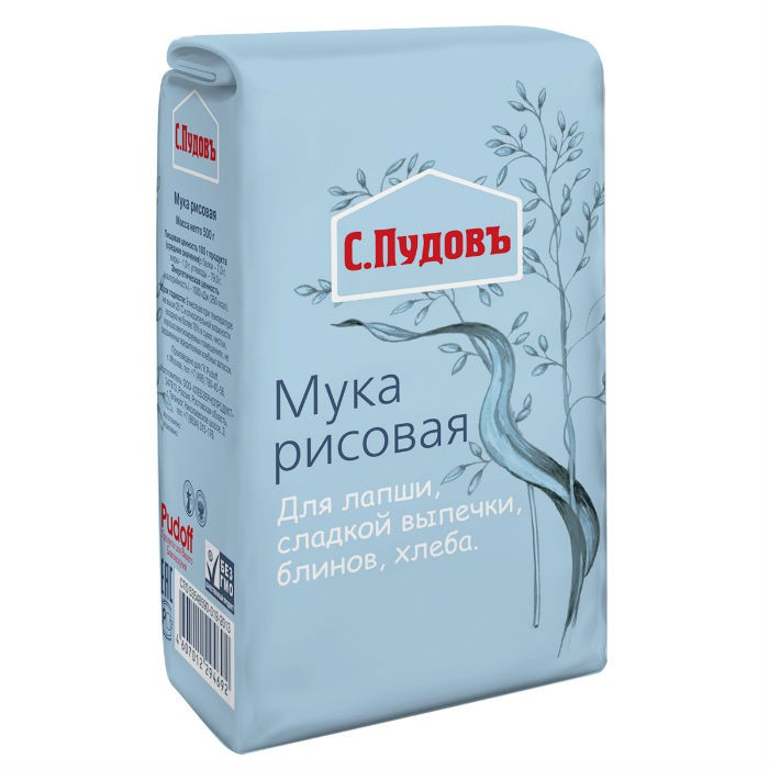 Мука рисовая С.Пудовъ 500 г