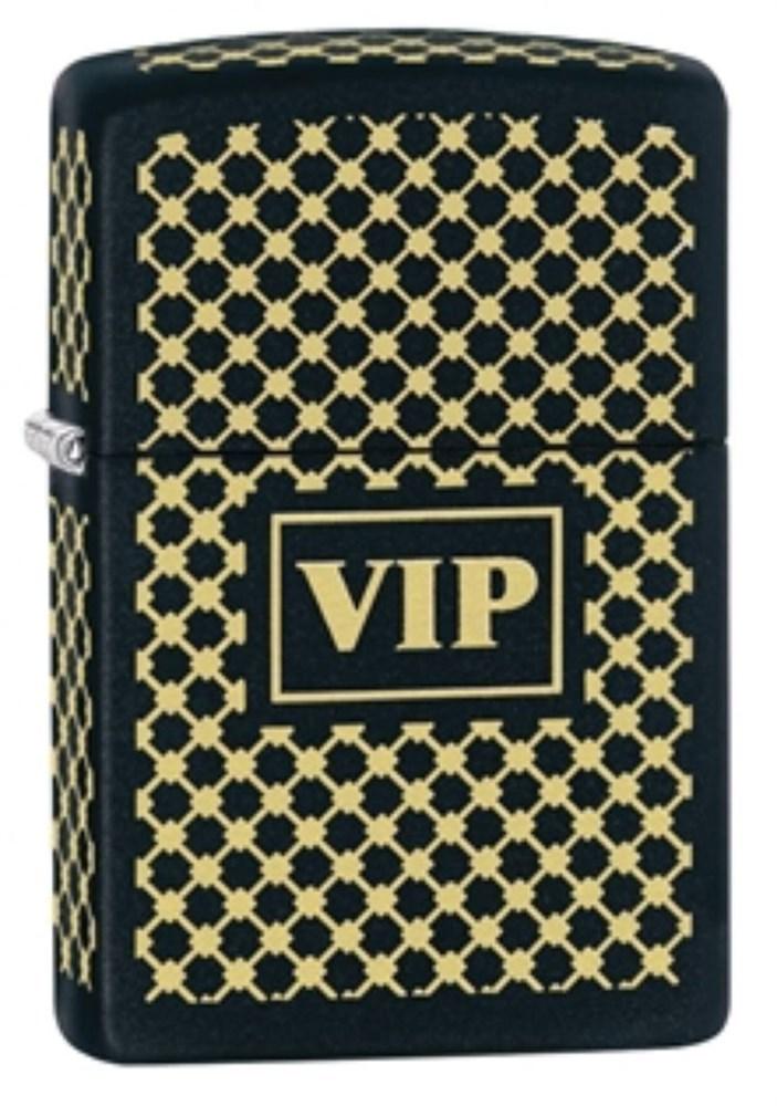 Бензиновая зажигалка Zippo VIP Black Matte