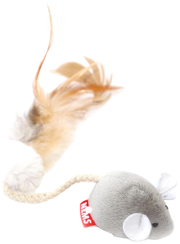 Игрушка для кошек Nems Мышь с чипом, длинный хвост
