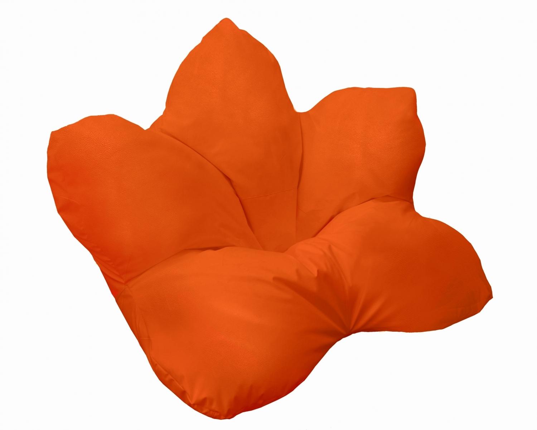 Кресло-мешок Pazitif Цветок Пазитифчик, размер XXL, экокожа, оранжевый фото