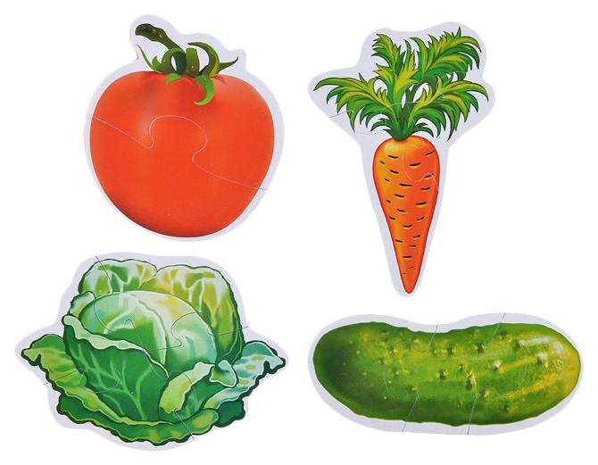Макси-пазл Умка овощи. Мягкий (ева) на блистере (4 детали). 4690590111994