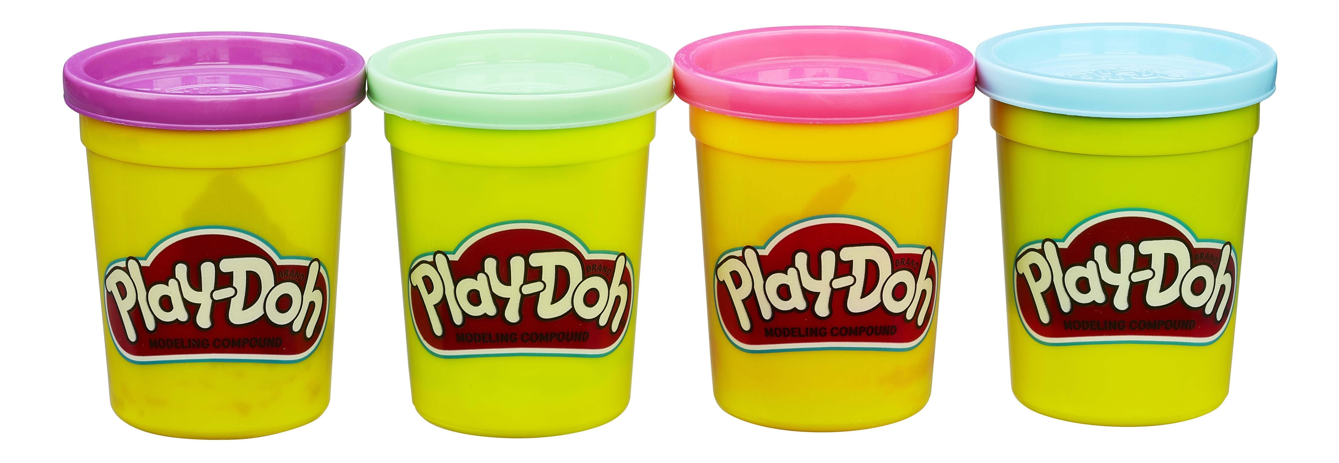 Купить Play-doh набор из 4 баночек b5517 b6510, Наборы для лепки Play-Doh