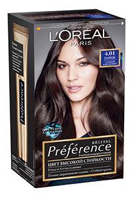 Краска для волос L\'Oreal Paris Preference оттенок 4,01 Париж глубокий каштан