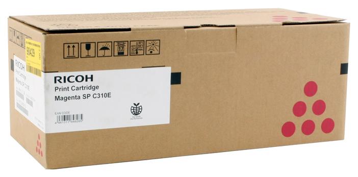 Картридж для лазернего принтера Ricoh SP C310E, пурпурный, оригинал фото