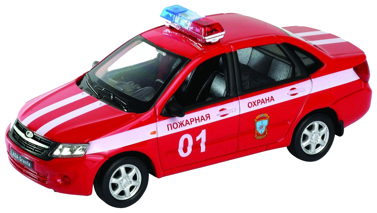 Машинка Welly 43657FS 1:34-39 LADA Granta Пожарная охрана