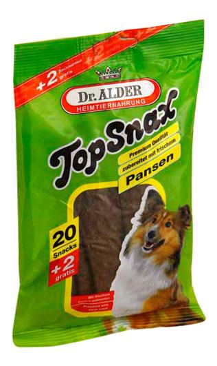 Лакомство для собак Dr, Alder\'s, Top Snax, жевательные пластинки с рубцом, 200г