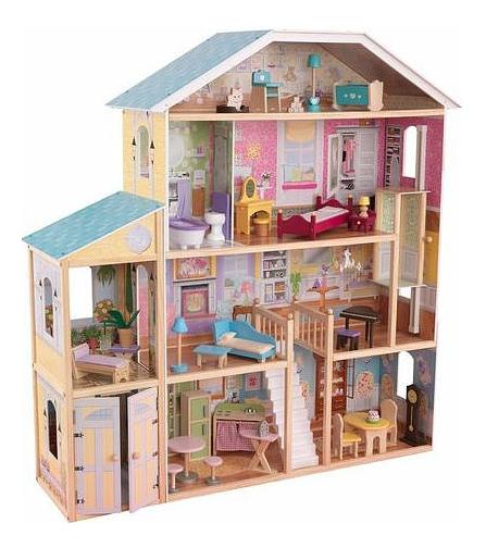 Купить Домик KidKraft для Barbie Великолепный особняк с мебелью, Кукольные домики