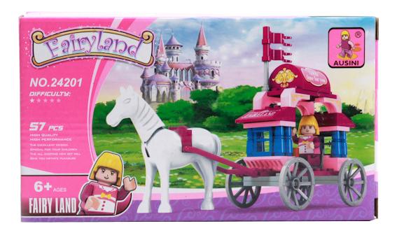 Купить Лошадь С Каретой, Конструктор пластиковый Ausini Fairyland, Конструкторы пластмассовые