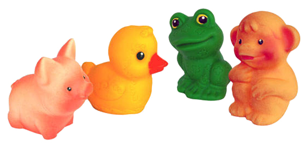Купить Игрушка для купания Огонек Набор из пластизоля Малыши (пвх), Игрушки для купания малыша