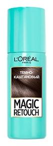 Спрей для волос L\'Oreal Paris MAGIC RETOUCH тонирующий 2 Темный Каштан