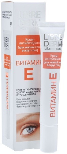 Купить Крем-антиоксидант для кожи вокруг глаз LIBREDERM Витамин Е, 20 мл