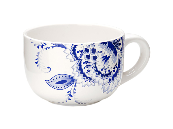 Супница Loraine 24815 Белый, синий