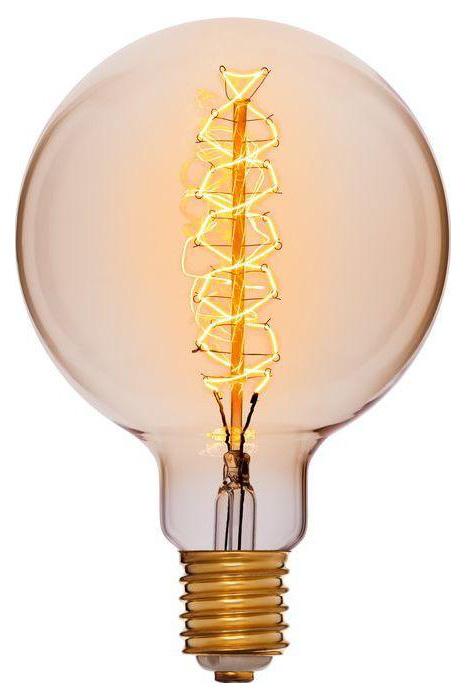 Лампа накаливания E40 95W шар золотой