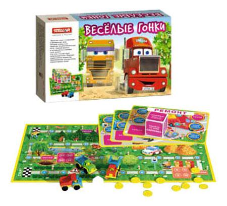 Купить Семейная настольная игра Стеллар Веселые гонки, STELLAR, Семейные настольные игры
