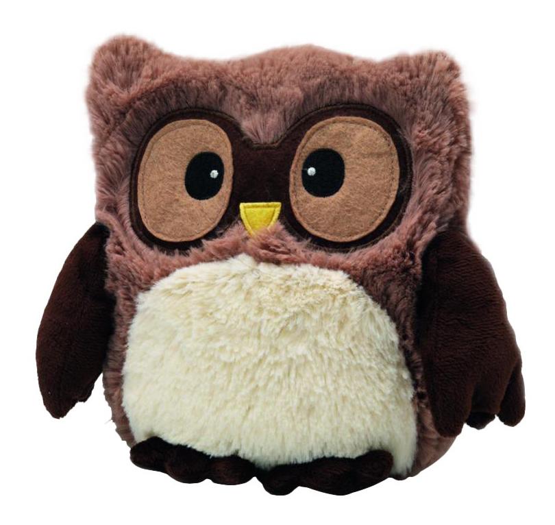 Мягкая игрушка-грелка Warmies Совенок коричневый фото