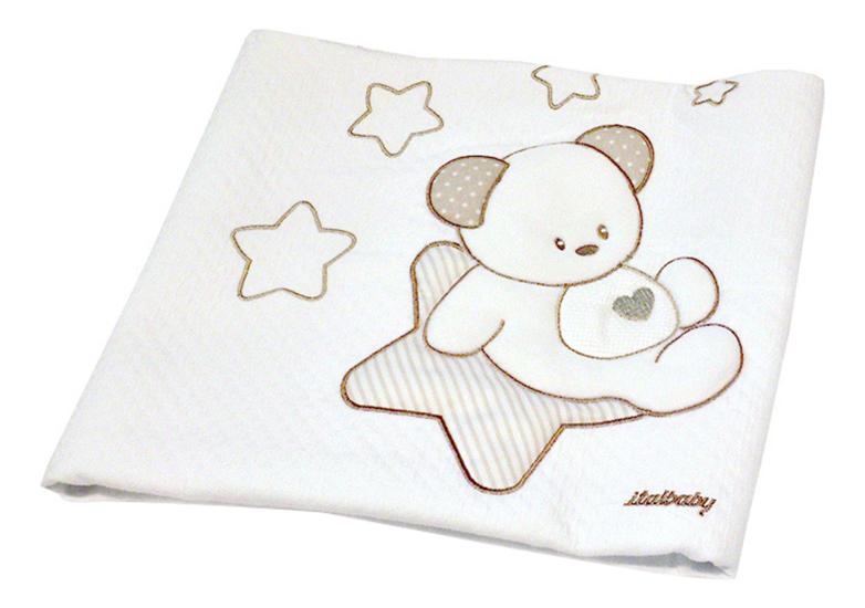 Покрывало детское Italbaby Sweet Star 65х80 пике крем фото