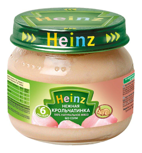 Пюре мясное Heinz Нежная крольчатинка с 6 месяцев 80 гр