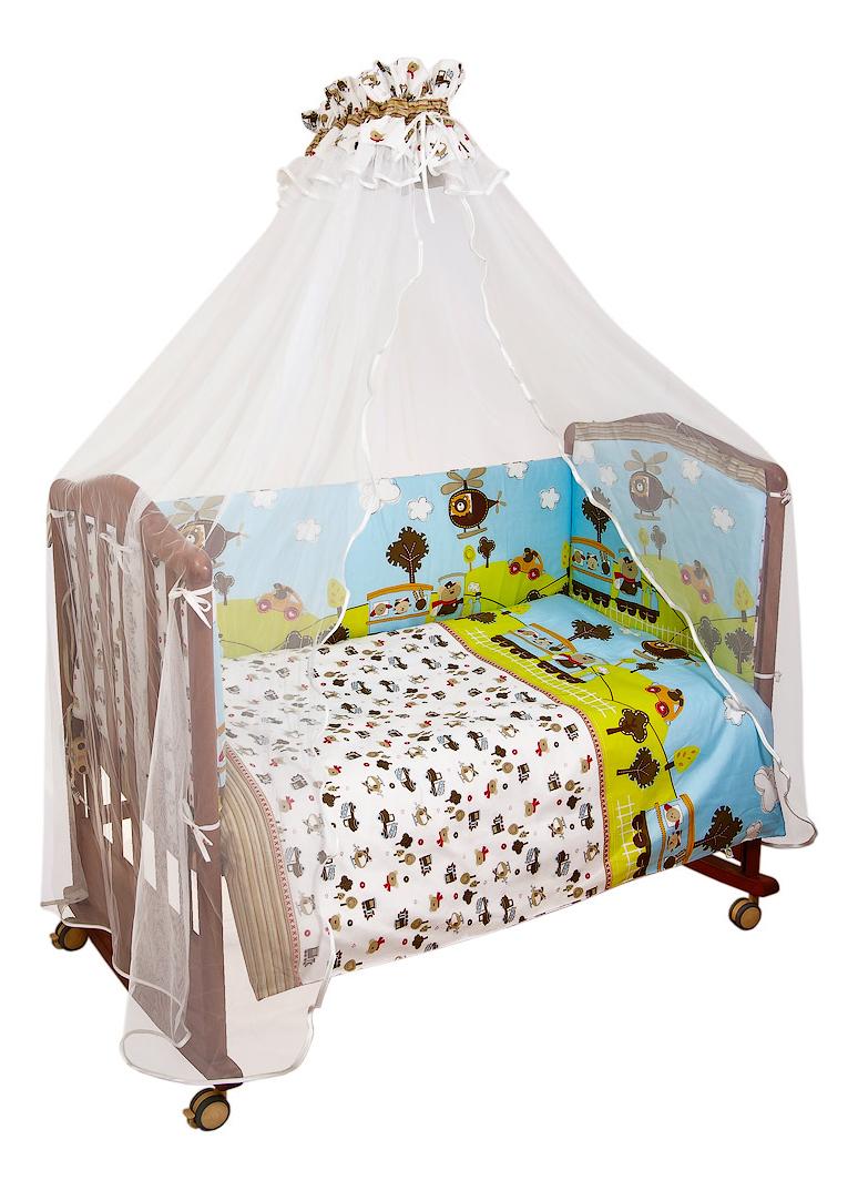 Комплект в кроватку Каникулы голубой Сонный гномик 7 предм. фото