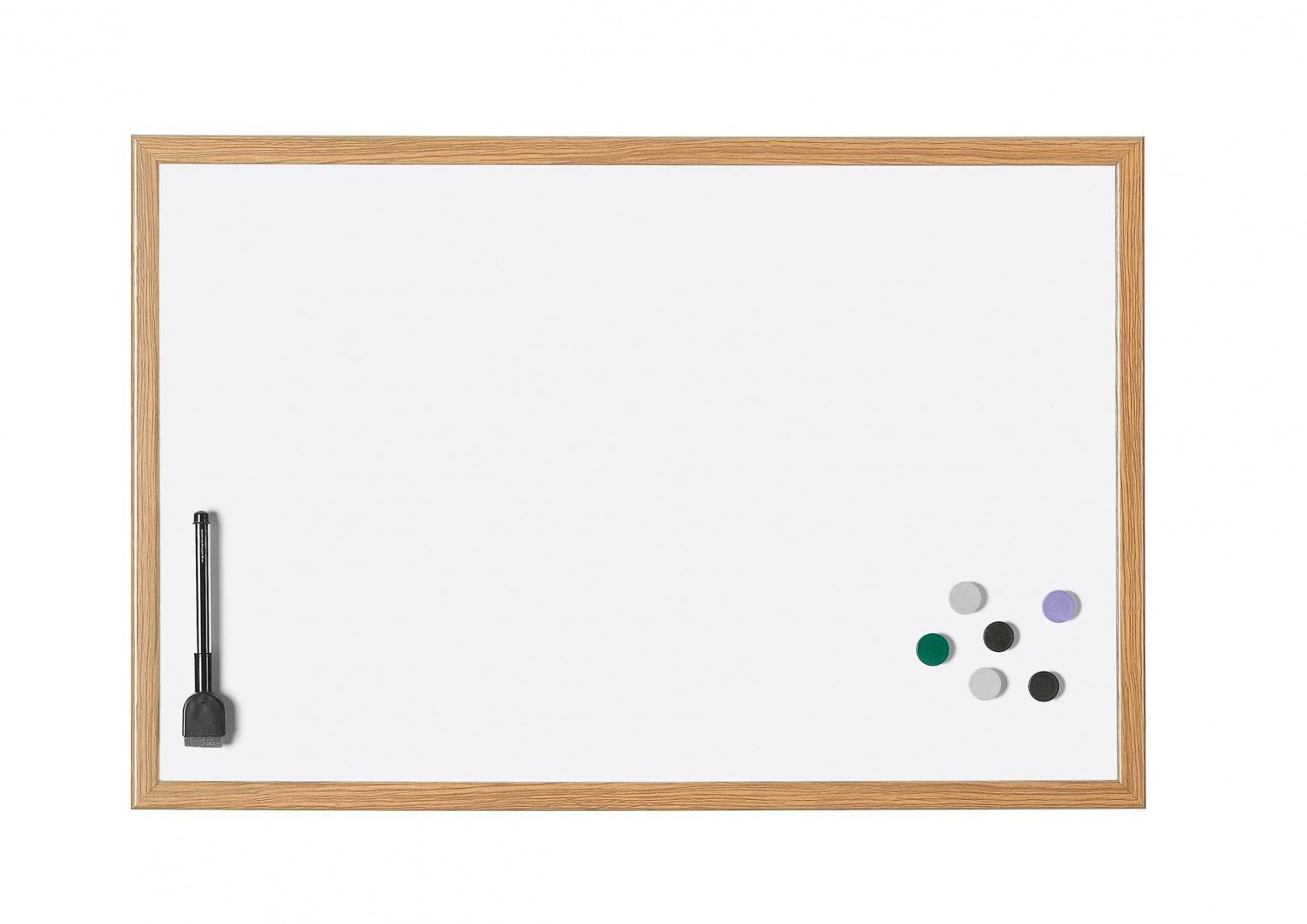 Доска белая Magnetoplan дер. рама,390х290мм,лак.,магн/марк