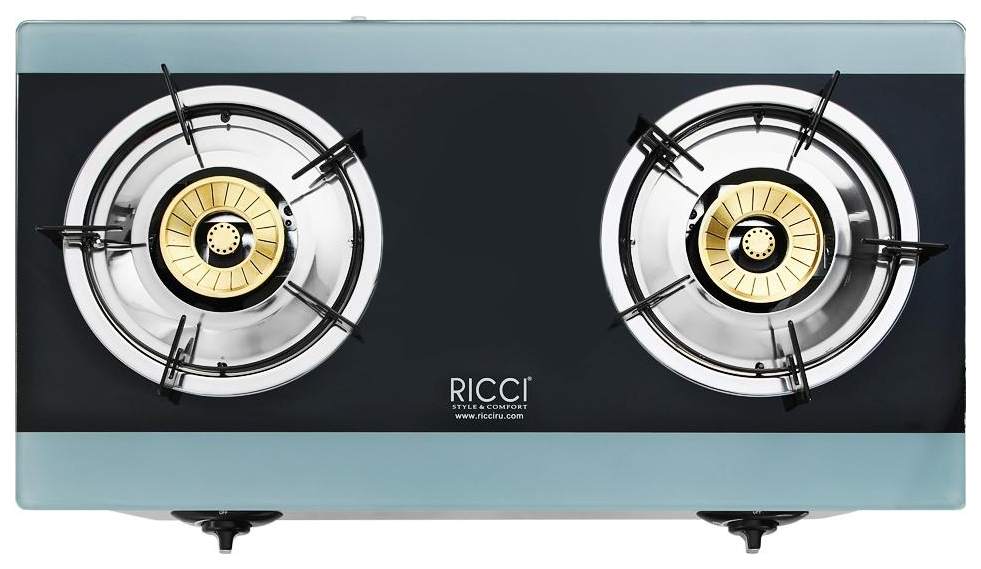 Настольная газовая плитка RICCI RGH 604B Blue/Black