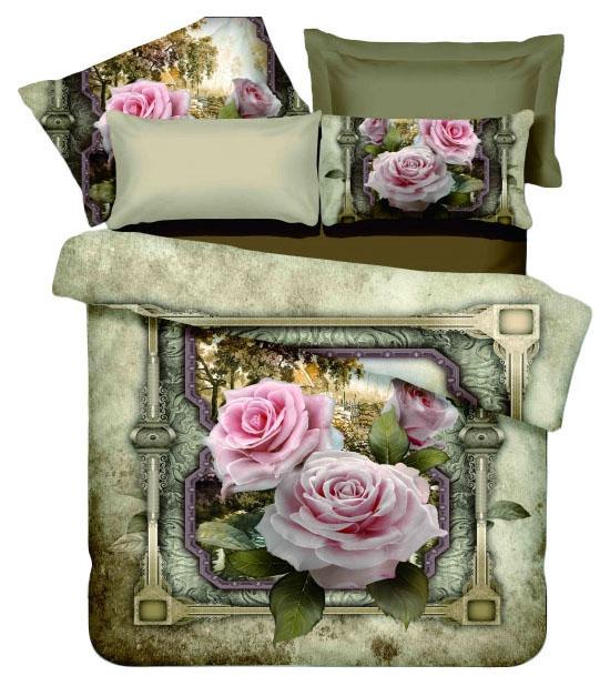 Комплект постельного белья Mioletto 3D сатин D-002 Двуспальный