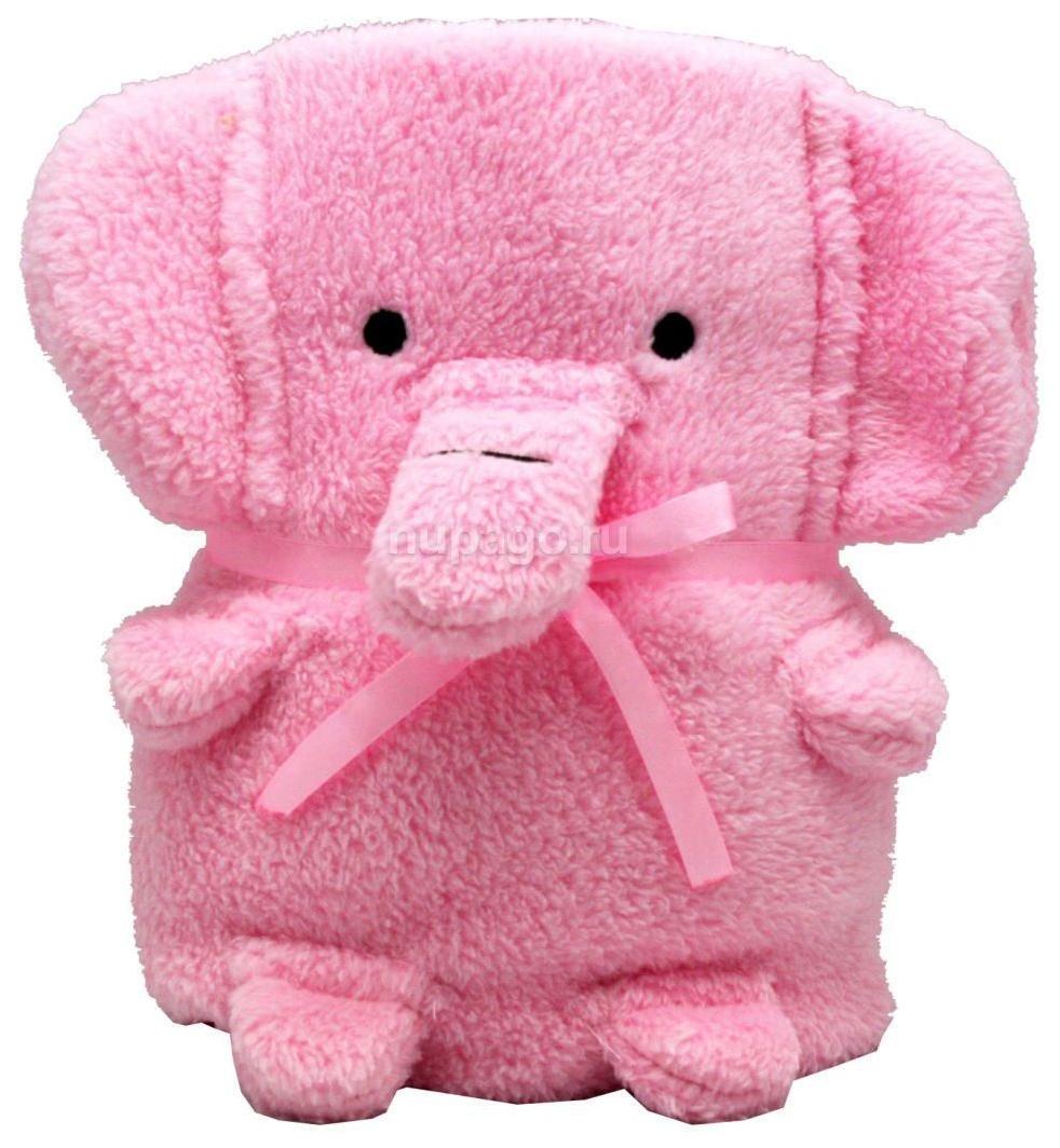 Купить Мягкая игрушка-плед розовый слоник 60 x 90 см, Мягкая игрушка-плед Cool Toys Розовый Слоник 60 x 90 см, Детские пледы