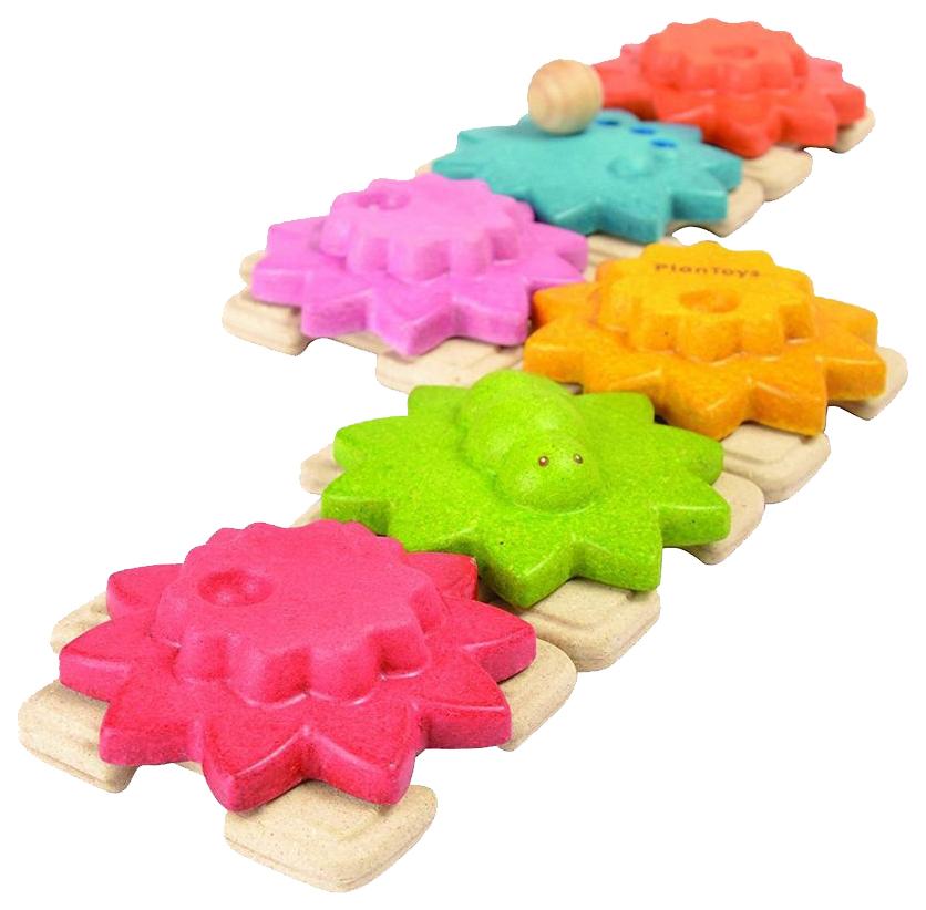 Купить Развивающая игрушка Plan Toys Шестеренки Стандарт 5634, PlanToys, Пазлы для малышей