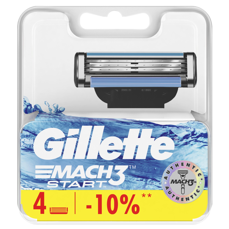 Купить Сменные кассеты Gillette Mach3 Start 4 шт