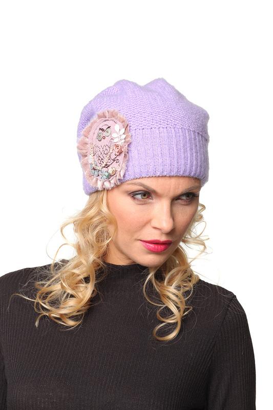 Шапка женская Lak Miss KLER 3342 фиолетовая 56-58 фото