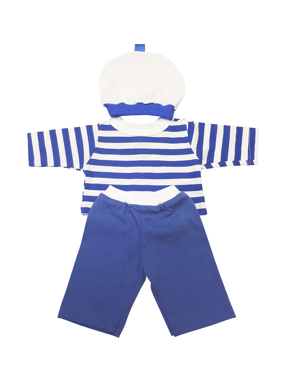 Набор одежды для кукол КоЛибри Костюм Морячок Колибри 30 белый синий цветы фото