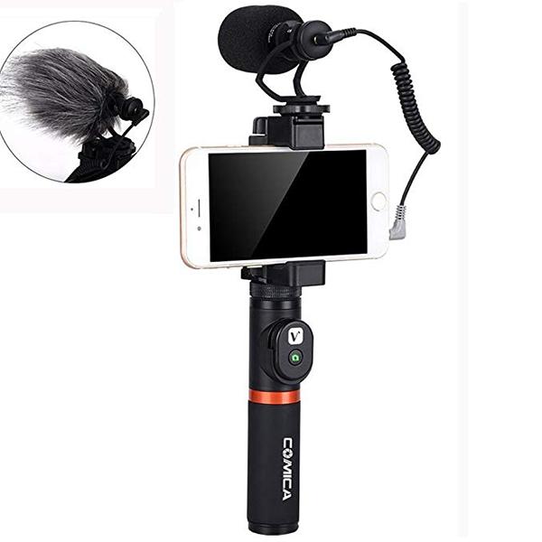 Микрофон COMICA CVM-VM10-K3 для смартфона с держателем и пультом
