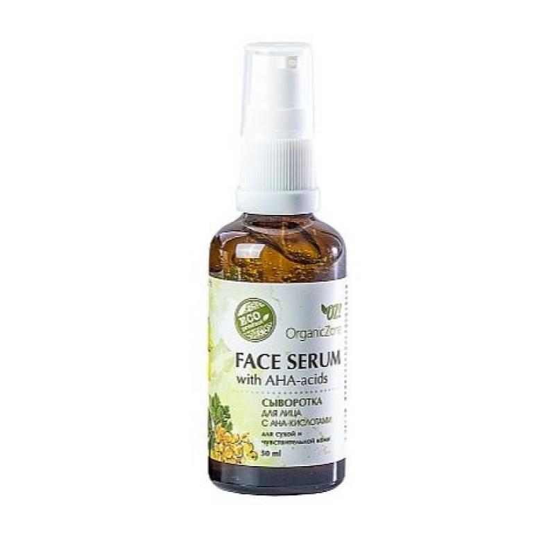 Купить Сыворотка для лица с АНА-кислотами Organic Zone для сухой и чувствительной кожи