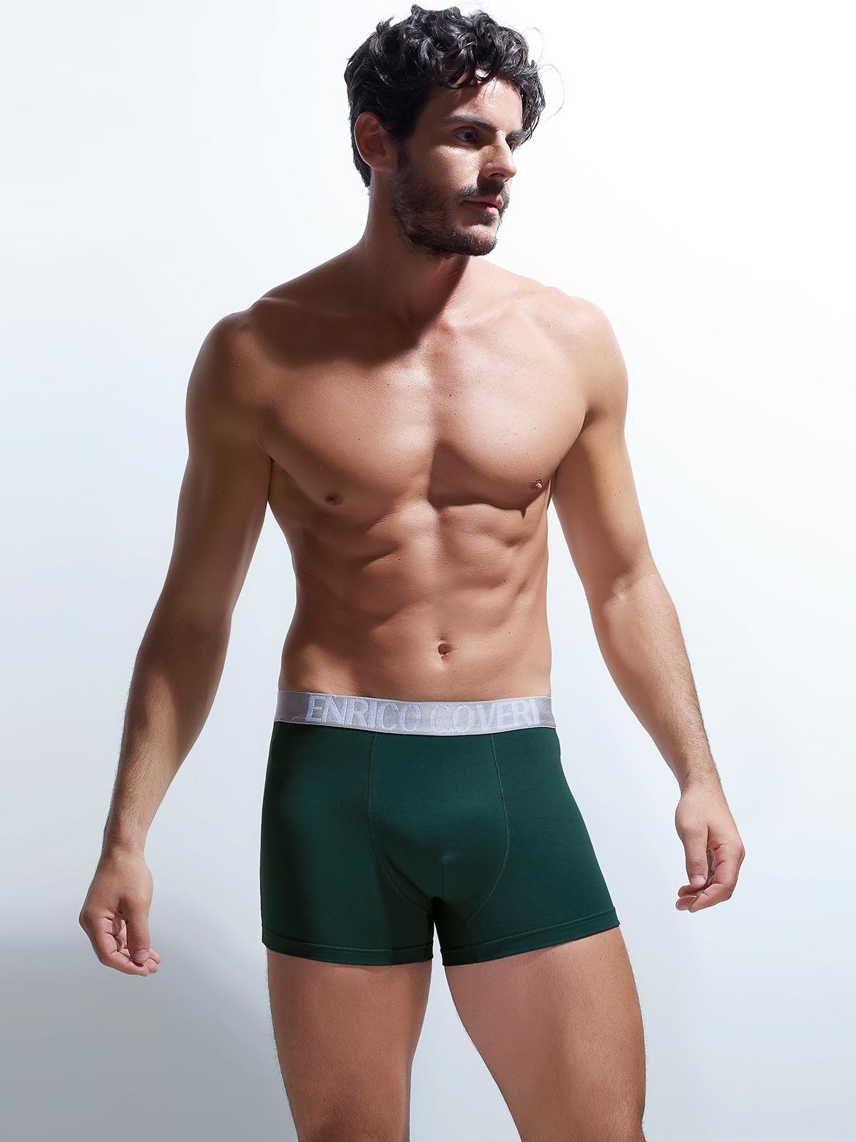 Трусы боксеры мужские Enrico Coveri зеленые XL