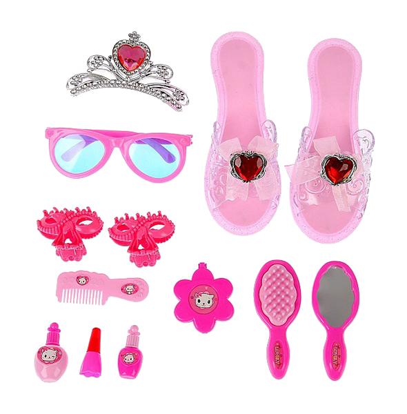 Купить Набор аксессуаров для юной красотки Подиум , 13 предметов, NoBrand, Наборы украшений для девочек
