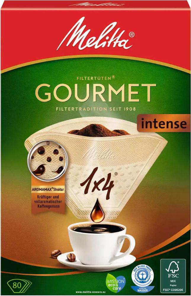 Фильтры бумажные Melitta для заваривания кофе 1х4/80 Гурмэ Интенс (0100999)