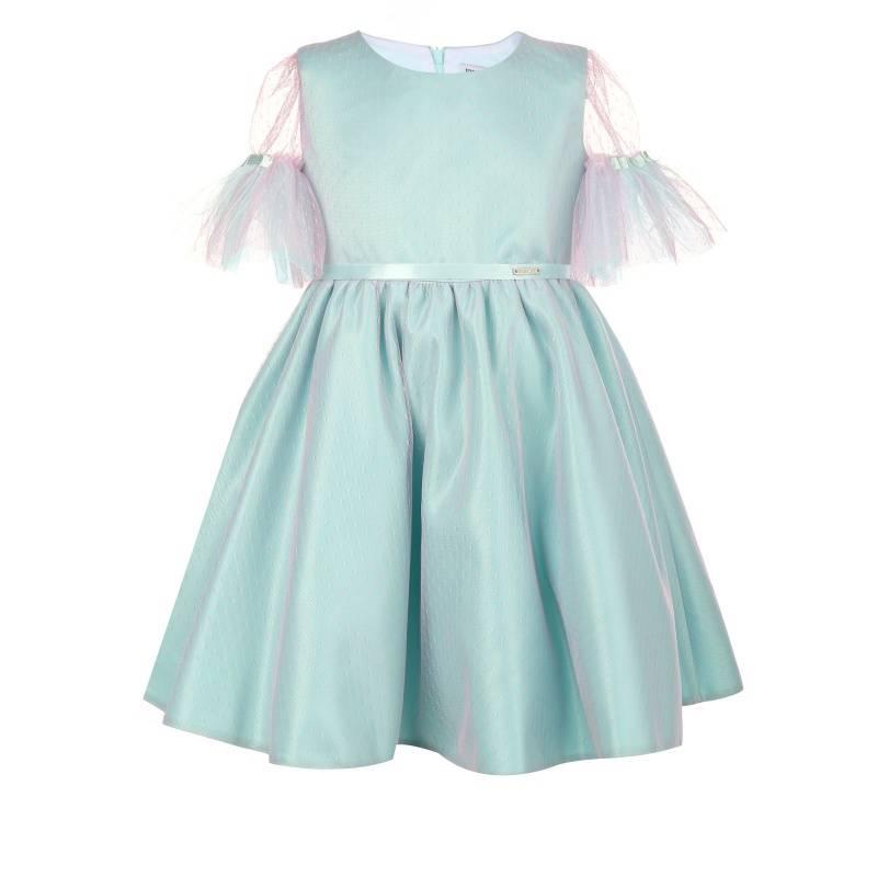 Купить Платье Феникс UNONA D'ART, цв. бирюзовый, 128 р-р, Детские платья и сарафаны