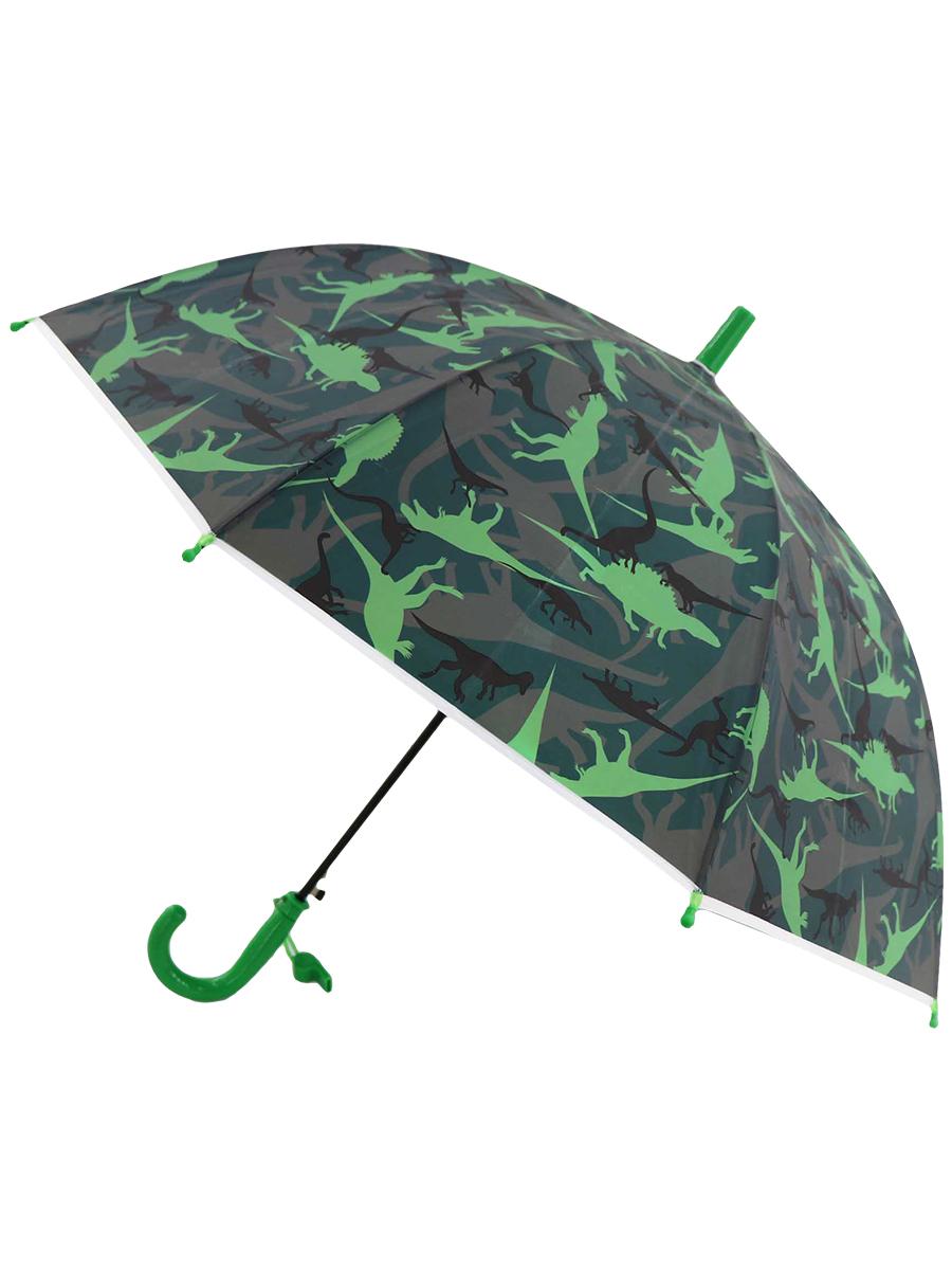 Зонт трость МихиМихи Динозаврики хаки