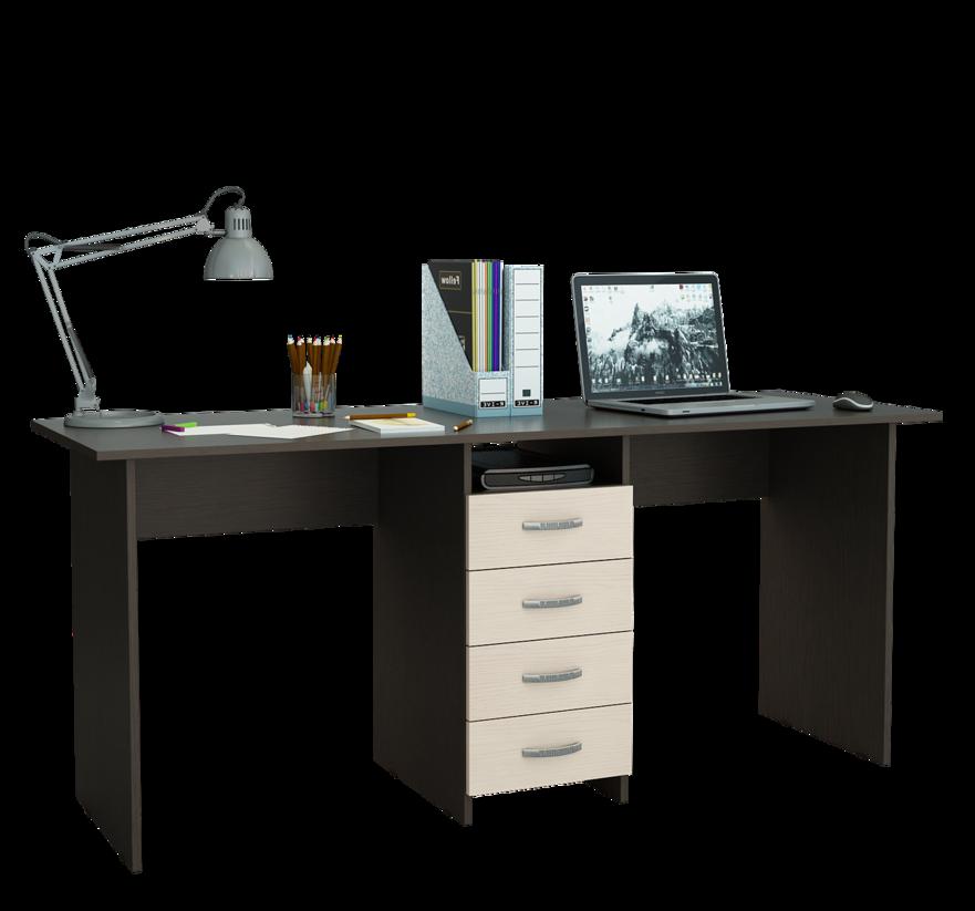 Компьютерный стол МФ Мастер Тандем-2 174,8x60x75, венге/дуб молочный
