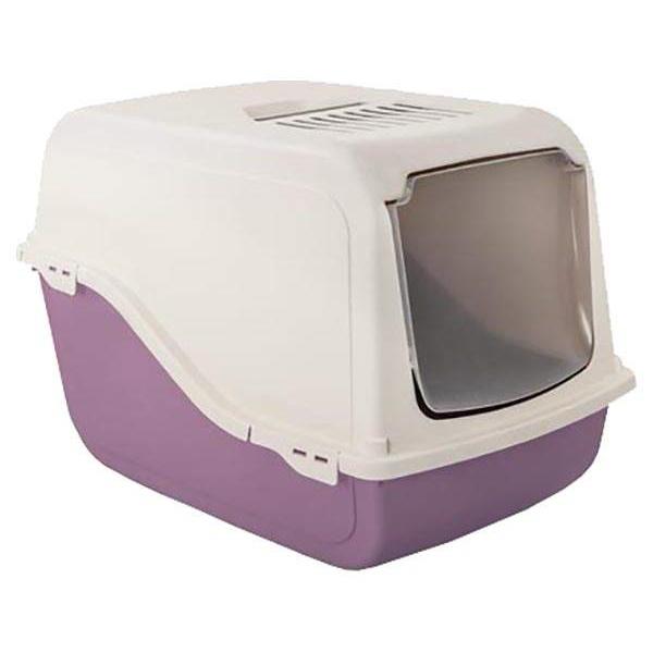 Туалет для кошек MP-Bergamo Ariel, прямоугольный, фиолетовый, белый, 57х39х38 см