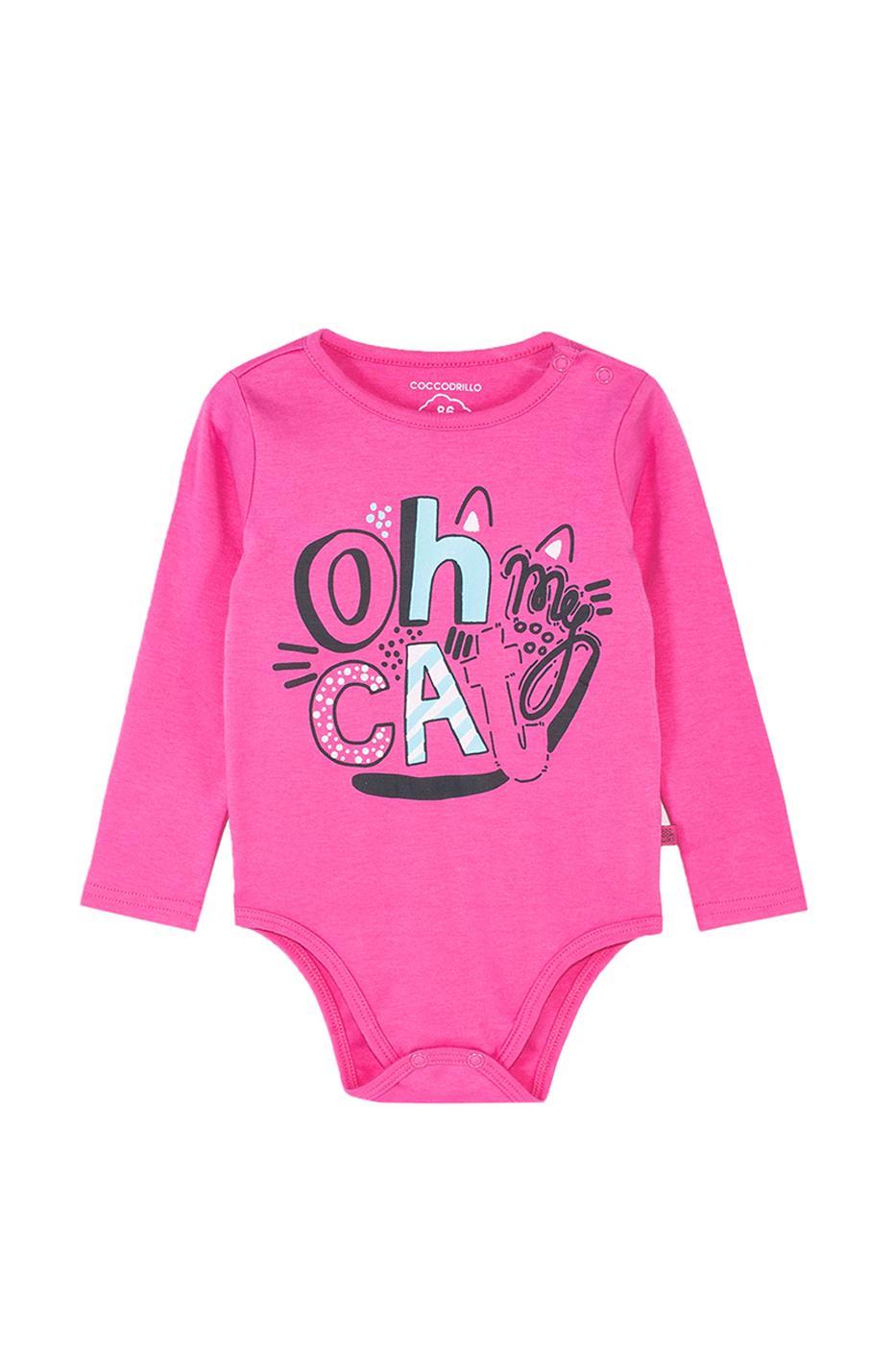 Купить Z19412103UNI, Боди для девочки Coccodrillo, 80 р-р, цв.розовый, Боди для новорожденных